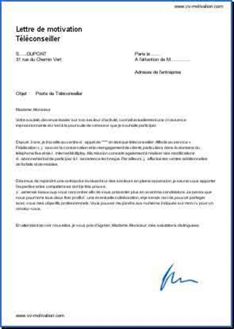 Exemple Lettre De Motivation Teleconseillere Modele Lettre De Motivation Teleconseillere Document