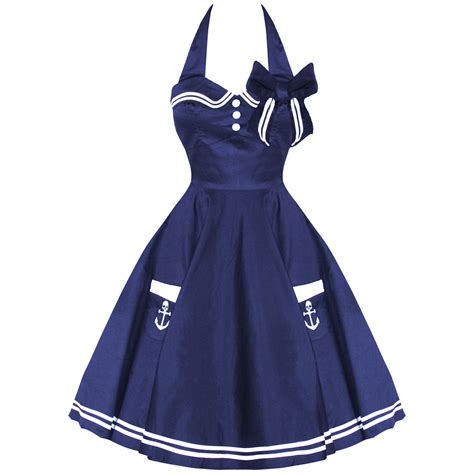 Dres Sailor F hell bunny motley new navy vtg 50s retro nautical sailor