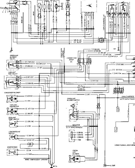wiring diagram type 924 s model 86 sheet porsche 944
