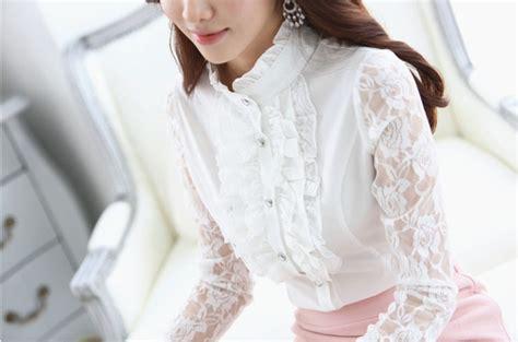 Atasan Import 158 baju kemeja brokat wanita cantik model terbaru jual