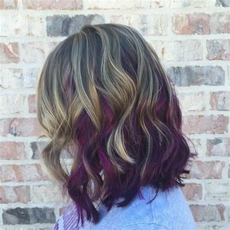 pictures of hair medium hair styles dark underneath 45 best hairstyles using the fashionable shade of purple