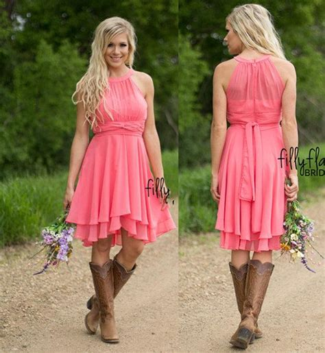 coral colored of the dresses coral colored bridesmaid dresses country westen ruched