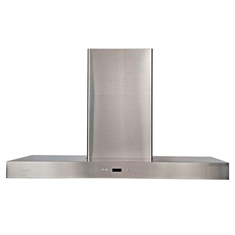 cavaliere 42 in island chimney range in stainless