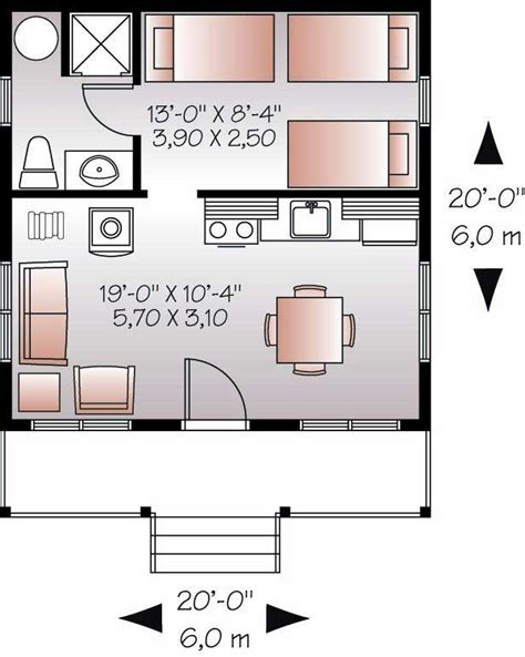 small house floor plans this for all small house plan tiny home 1 bedrm 1 bath 400 sq ft
