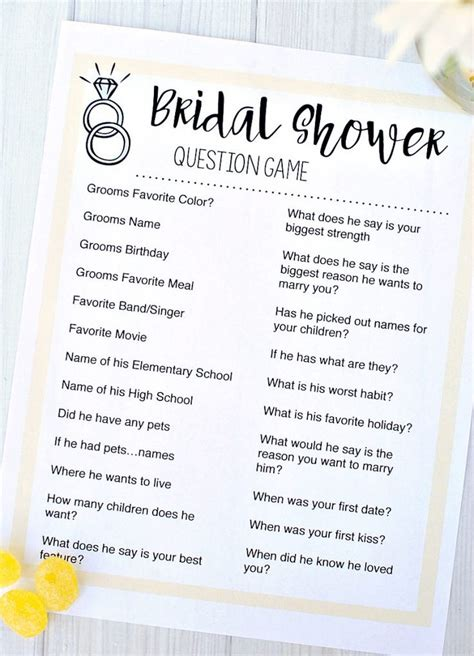 bridal shower knows groom free printable bridal shower bridal shower questions question and bridal showers