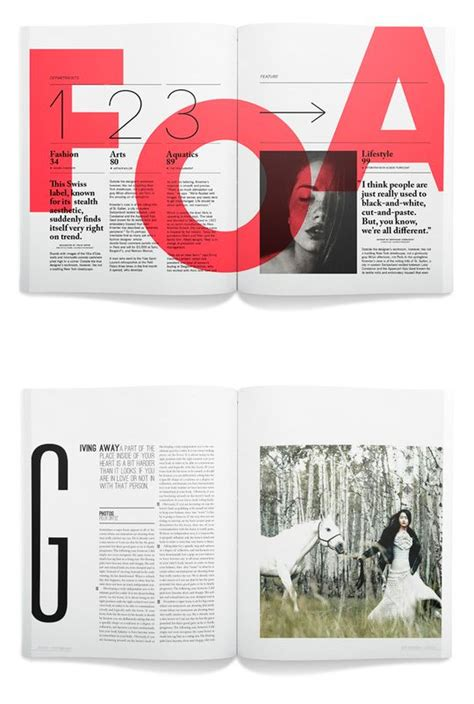 magazine layout board editorial i am in love with the bright colored letters