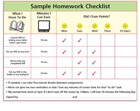 Pin Homework Checklist Template On Pinterest Adhd To Do List Template
