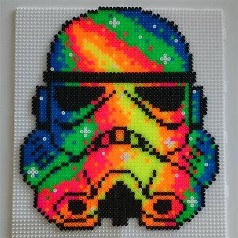 hama patterns neon stormtrooper wars hama by hamatiija