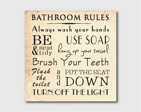 bathroom rules art pin by claire dodson on home pinterest