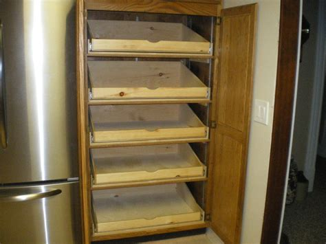 full extension pull out pantry shelves for a friend by