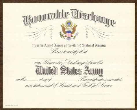 section 8 military discharge honorable discharge certificate replacement pictures to