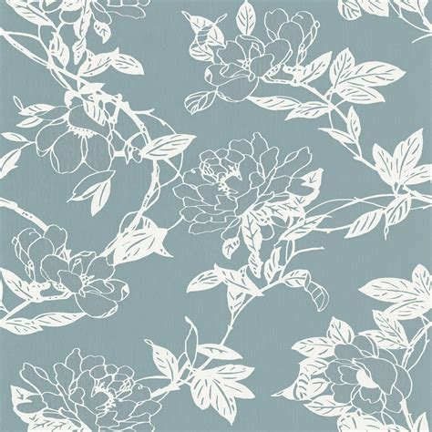 metallic blue wallpaper uk graham brown jiao floral trail metallic vinyl wallpaper
