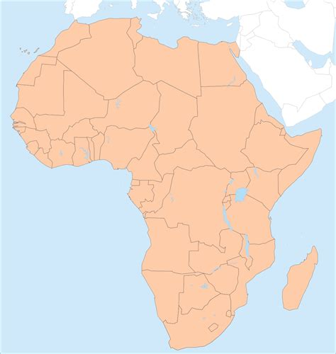 africa map no labels outline map of africa a4 size