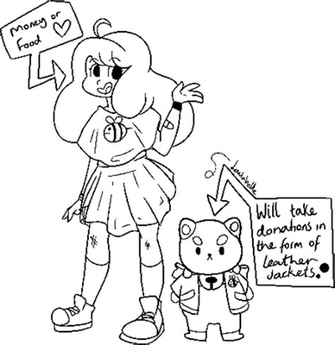 paint tool sai exception access p2u bee and puppycat linework by loulabeiie on deviantart