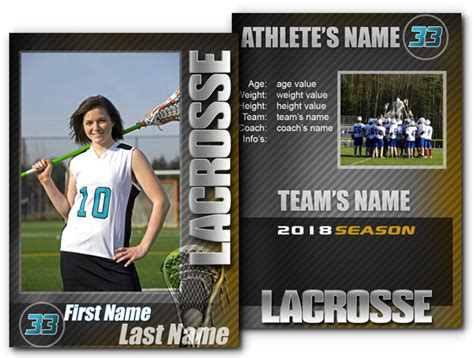 lacrosse player card template 15 psd football trading card images baseball trading