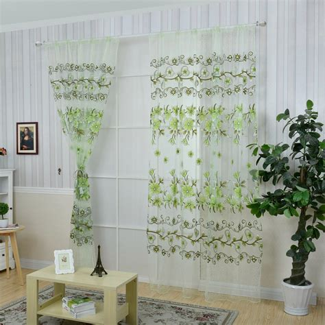 colorful sheer curtains honana fashion transparent tulle curtains window screen