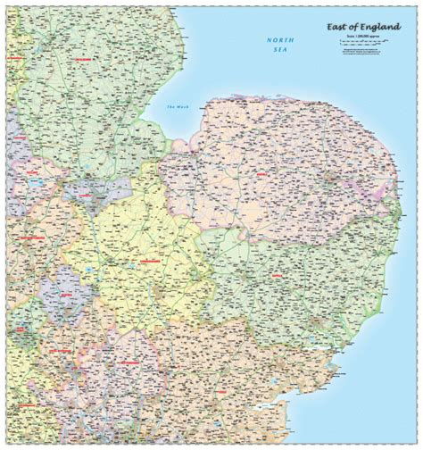 map uk east f east of regional map political map graphics