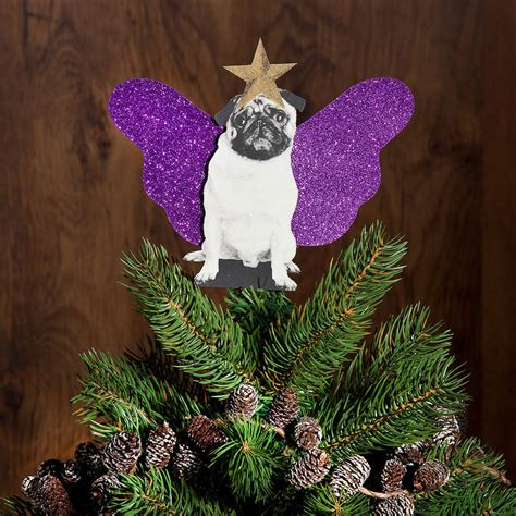 pug tree pug tree topper by spotted notonthehighstreet