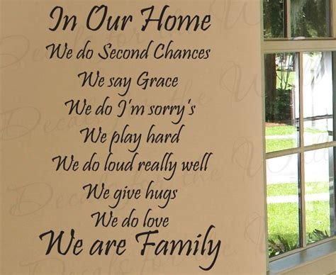 in our home we do second chances home family decorative