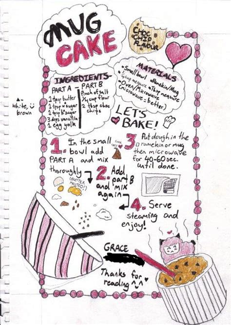 Mug Ideas mug cake recipe choc chip cookie flavour by grace eats