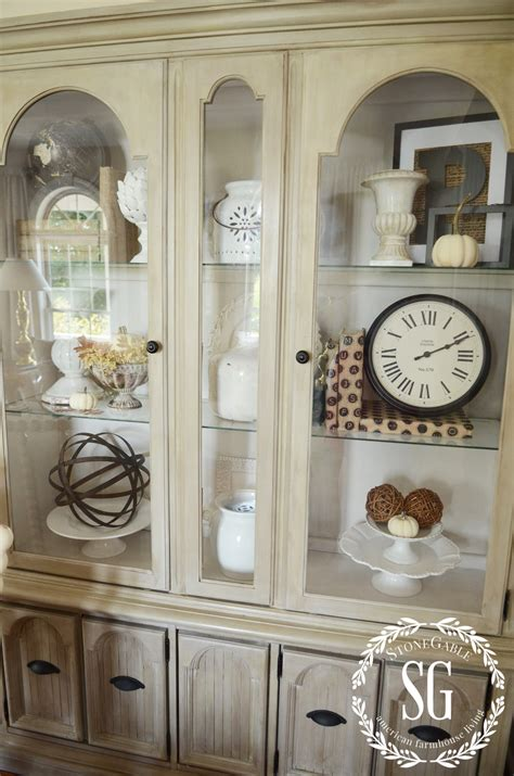 how to decorate glass cabinets in living room meliving 379b5acd30d3 5 easy tips to style a hutch stonegable