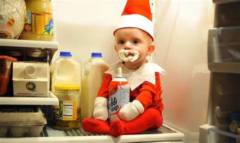 dad turns baby into elf on the shelf usa today dad turns toddler son into real life elf on the shelf