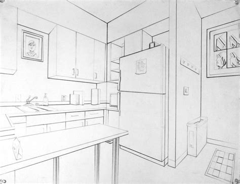 Two Point Perspective Interior by Intro To Drawing 2016 09 11