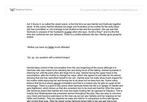 hamlet act 3 1 essay