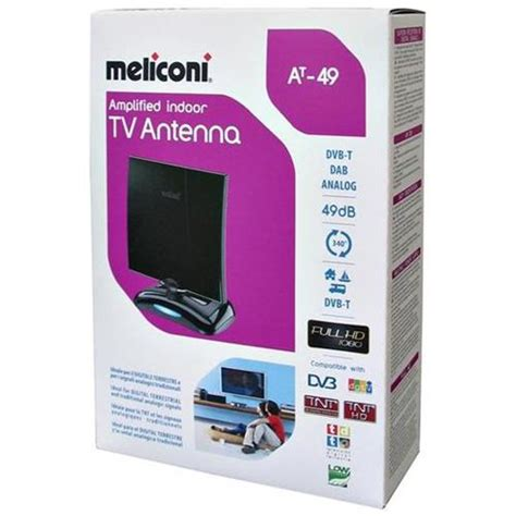 antenna tv per interni meliconi antenna tv da interno lificata 49 db ebay