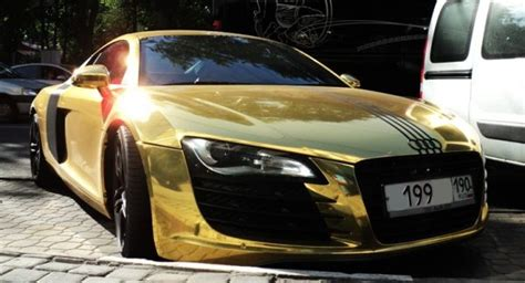 Cars And Bikes Real Gold Car Sports Cars