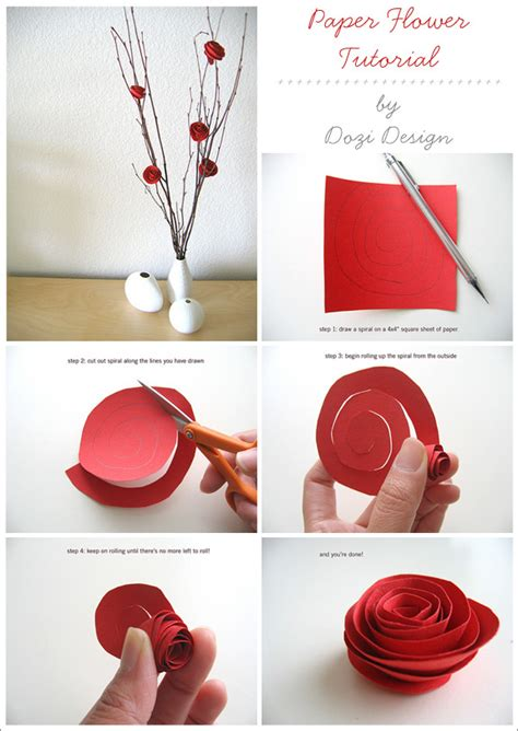 How To Make A Paper Flower - diy paper flower tutorial pictures photos and images for
