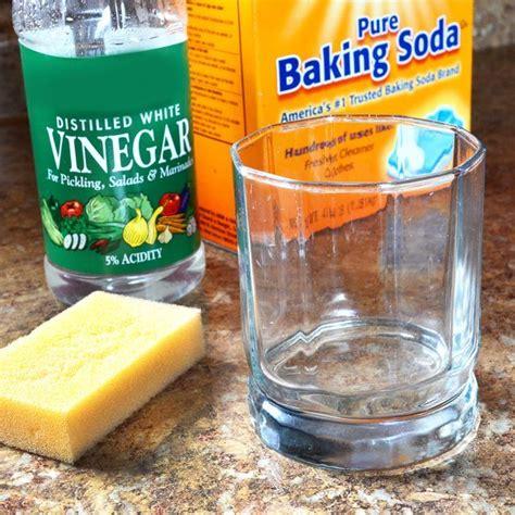 clean calcium deposits  glass diys