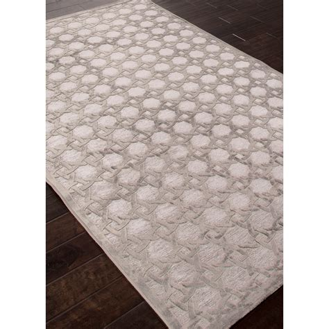 rayon rugs trella grey rayon chenille rug 7 6 quot l x 5 w jaipur rugs touch of modern