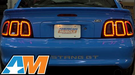 sn95 mustang tail lights 1996 1998 mustang raxiom icon led tail light review