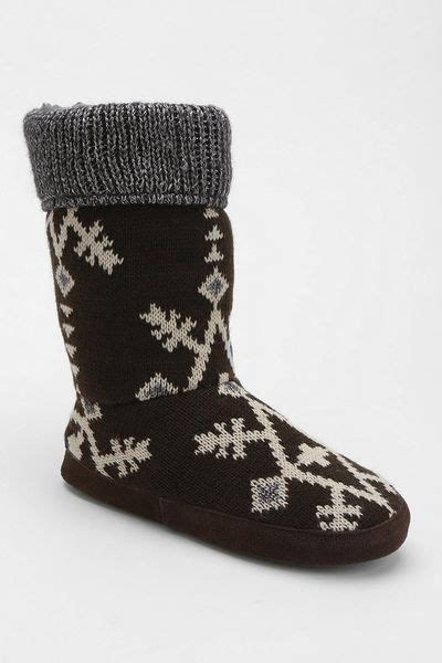 slippers outfitters outfitters muk luks snowflake slipper sock