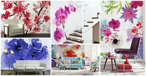 floral wall murals blooming floral wall murals that you will to