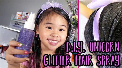 All In Hair Mist Again Promo diy unicorn glitter hair spray easy hair glitter tutorial hair glitter unicorn hair