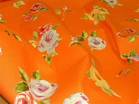 orange curtain fabric uk prestigious textiles ella orange floral cotton curtain