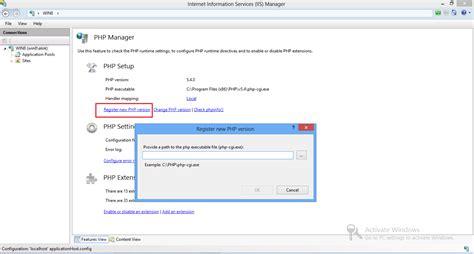 tutorial php on iis how to configure iis to serve php php on iis 8