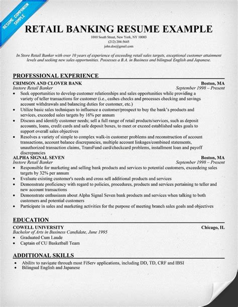 entry level bank teller resume bank teller resume sample jesse