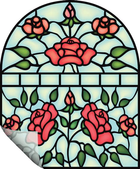 2 vinyl stained glass window decal stickers diy removable