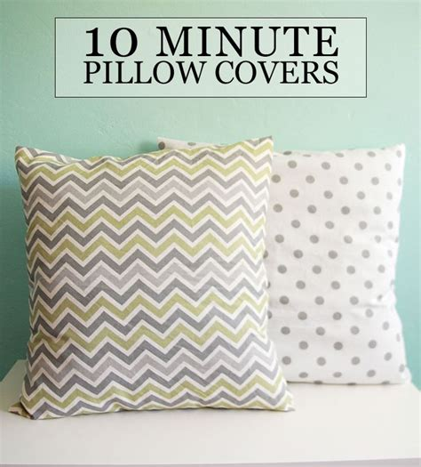 How To Sew A Decorative Pillow by Diy Tutorial Sew 10 Minute Throw Pillow Covers Sewing