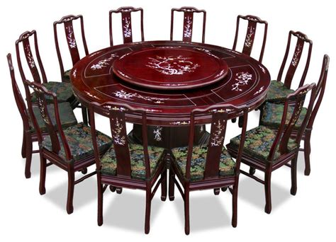 Dining Table China 72 Quot Rosewood Pearl Inlay Design Dining Table With 12 Chairs Asian Dining Sets By