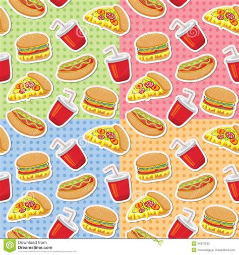 food pattern photography patterns with fast food stock vector illustration of
