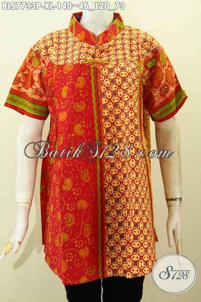 Baju Batik Perempuan Dewasa baju batik wanita kombinasi blus kerja untuk perempuan dewasa pakaian batik klasik elegan