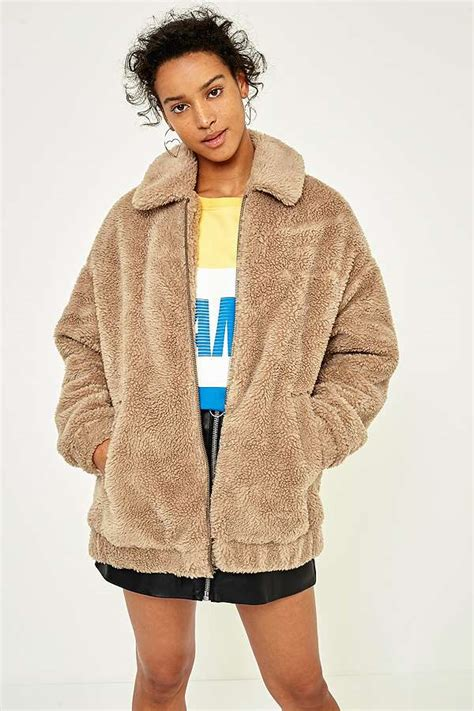 Urban Outfitters Bedding Sale Light Before Dark Camel Teddy Zip Through Jacket Urban