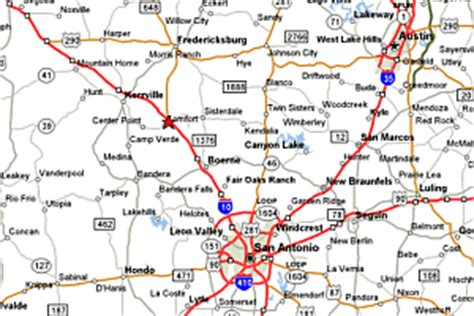 map of san antonio texas and surrounding area san antonio map and surrounding areas