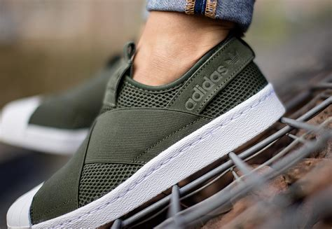 Adidas Superstar Slip On Olive Green White Montaineering adidas superstar slip on w shoes olive weare shop