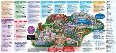 disney maps disney california adventure park thrillz the ultimate
