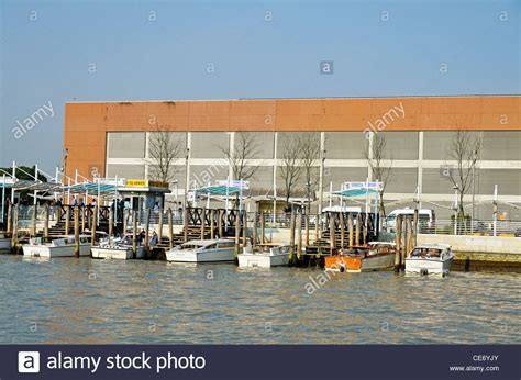 motor boat venice airport motorboats water taxis at wharf venice airport venice